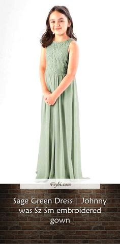 """""""Sage Green Dress, that is the subject of this mounth... Good morning our pretty follower. Our team have compiled these 4 Sage Green Dress pictures from 145+ awesome images for you. While doing this, Our Editors paid attention to the fact that there are decorations that can be popular in 2020 and many more. Please click on the 'Read More' button to see the rest of the content associated to... Sage Green Dress, Dress Picture, Johnny Was, Rest, Decorations, Gowns, Content, Popular, Button"""