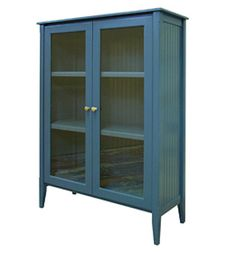 Over 40 other colors to choose from. PaintedFurnitureBarn.com - Beadboard Display Cabinet (http://www.paintedfurniturebarn.com/beadboard-display-cabinet/)