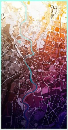 AUTONE - Urban planner who makes his maps look like art pieces ! Amazing !: