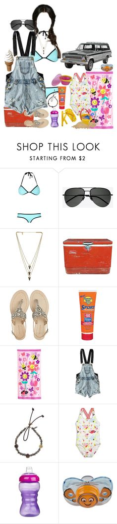 """""""Day at the Beach"""" by werewolf-gurl ❤ liked on Polyvore featuring Triangl, Yves Saint Laurent, Melanie Auld, Coleman, Antik Batik, Banana Boat, Jumping Beans, OneTeaspoon, Catherine Michiels and Heidi Klein"""