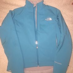 THE NORTH FACE North Face Softshell Jacket! Only wore a couple times still in really good condition!! Size Small, Aqua Blue in color! Please ask if you have any questions  The North Face Jackets & Coats