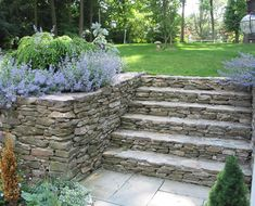 Fieldstone Wall and Steps