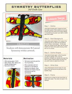 Symmetry Butterflies Lesson  I absolutely hate these nasty bugs, but I guess it'll be good for 2nd graders to have an art project to go with their science unit.