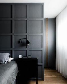 Bedroom inspiration from @ha_arc photo by @blachford #bedroom #bedroominspo #bedroomdesign #sheercurtains #walkinrobe
