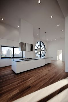 Kitchen at The Clock Tower, New York by Minimal