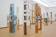 Isa Genzken - Untitled (installation 4 tower and 3 columns) - Mixed Media