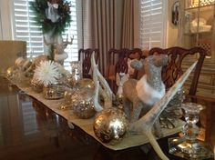 Dining Room Holiday tablescape: christitowne.com; Christi Towne Designs