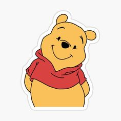 Winnie The Pooh Decor, Winnie The Pooh Drawing, Stickers Winnie, Cute Stickers, Disney Frames, Mickey Mouse Images, Homemade Stickers, Disney Cards, Tumblr Stickers