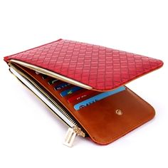 BOGESI PU fashion wanita dompet Pemegang Kartu dengan coin bag Merah f46dafd4df