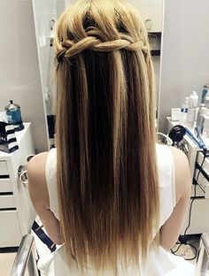 half up braided hairstyle for long fine hair