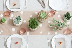 DIY this pretty table for your next outdoor party.