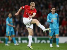 2009 UEFA Champions League: Semi-Final, 2nd leg: Paul Scholes' late decider vs Barcelona at Old Trafford.