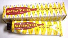 It's 6 proof too! Scotch flavored toothpaste Unusual flavors of toothpaste Flavored Toothpaste, Dental Humor, Dental Hygiene, Vintage Advertisements, Vintage Ads, Scotch Whiskey, Rye Bourbon, Vintage Packaging, Vintage Graphic Design