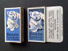 BONZO BOX WITH DOUBLE EDGE SAFETY RAZOR BLADE-VINTAGE