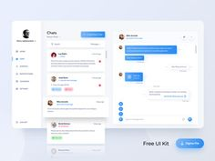 Freebie created by Dmitry The post Chat Dashboard Figma Freebie appeared first on FreeDune. Dashboard Ui, Dashboard Template, Dashboard Design, Ui Kit, Tool Design, Ui Design, Website Templates, Templates Free, Free Chat