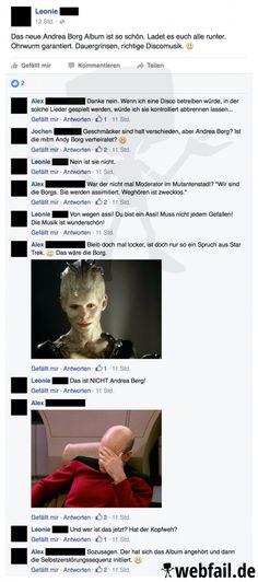 Dieser Moment, wenn du Star Trek Fans eine Steilvorlage lieferst. Herrlich!