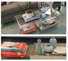 Kelly keeps a collection of books on the table in her dressing room #KellyandMichael