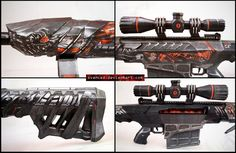 Crossfire Barrett Obsidian Beast VIP Papercraft 2 by svanced on DeviantArt Fb Liker, Paper Toys, Paper Crafts, Weapon Storage, Crossfire, Top Gun, Larp, Dragon Ball Z, Weapons