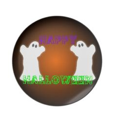 Halloween Ghosts Party Plates