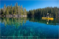 Kayaking On Waldo Lake. Oregon's second largest lake. One of the clearest lakes in the world you can see over 100 feet down on a calm day!