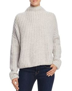 Suncoo Poppy Funnel Neck Ribbed Sweater | Bloomingdale's