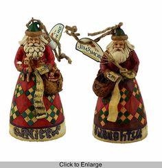 Jim Shore Santa `Naughty & Nice` Ornament
