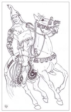 Warrior of Pazyryk culture by Tooril