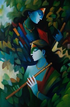 Perfect harmony by Cashi Sutar – Aartique Lord Shiva Painting, Buddha Painting, Krishna Painting, Krishna Art, Shree Krishna, Radhe Krishna, Indian Art Paintings, Modern Art Paintings, Beautiful Paintings