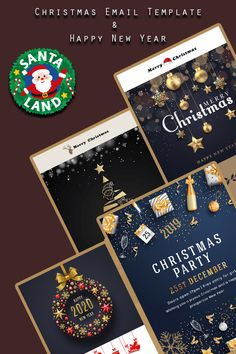 Merry Christmas & Happy New Year Newsletter Template Free Email Templates, Newsletter Template Free, Email Template Design, Merry Happy, Merry Christmas And Happy New Year, Merry Xmas, Happy Year, Christmas Offers, Christmas Christmas