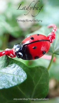 Ladybug March Bracelet Spring MARTIS Greek Bracelet, Martisor Bracelet, Martaki, Ladybug Bracelet, Best Friend Gift by VintageRoseGallery