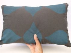 Durable, yet soft to the touch lumbar pillow cover. $36 #handmade #etsy #homedecor