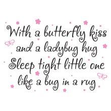 Butterfly Kiss Bedtime Vinyl Wall Decal