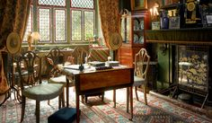Linley Sambourne House - London - Built in about 1870, was once home to the cartoonist and remains much as he decorated and furnished it. His drawings for satirical magazine Punch cram the walls and some rooms are adorned with William Morris Wallpaper.