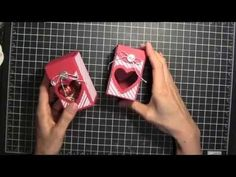 Elaine's Creations Stampin' Up! Valentines Heart 2, 4, 6, 8 box tutorial