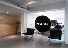 Possible Agency Office Design by BDG. Interior Design Examples, Beautiful Interior Design, Office Interior Design, Office Interiors, Interior Design Inspiration, Studio Interior, Office Designs, Office Signage, Office Branding