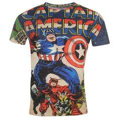 Mens Official Marvel Avengers Captain America Sub T Shirt #marvel #captainamerica #marvelshirt