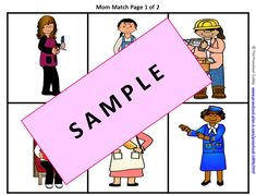 Mother's Day Preschool ThemeThis activity, Mom Match File Folder Game, is a fun matching game to help improve your children's math skills, eye-hand coordination skills and more!  It is part of my DONE FOR YOU Mother's Day Theme pack!