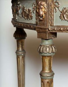 View this item and discover similar console tables for sale at - Century Italian, Silver Leaf and Painted, Marble Top Console Rococo Furniture, Living Furniture, Painted Furniture, Farmhouse Chic, Furniture Inspiration, French Furniture, French Decor, Classic Furniture, Beautiful Furniture