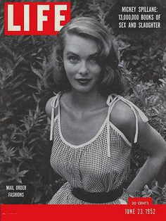 """June 1952 LIFE Magazine cover """"Mail Order Fashions"""" (photo by Christa). Vintage Magazines, Vintage Ads, Vintage Style, Vintage Glamour, Vintage Images, Vintage Fashion, Time Magazine, Magazine Covers, Magazine Photos"""