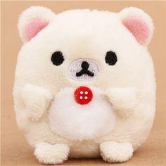 mini Rilakkuma white bear plush toy by San-X from Japan