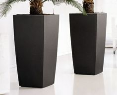Planters can be ordered in white