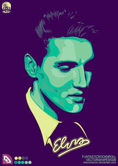 Really nice vector Elvis design