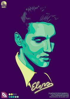 Really nice vector Elvis design