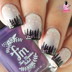 Winter Inspired Christmas Nail Art