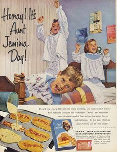 1961 Aunt Jemima Bacon Pancakes Advertisement by AdVintageCom