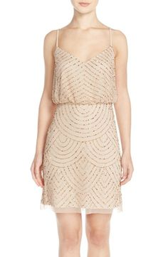 Free shipping and returns on Adrianna Papell Sequin Mesh Blouson Dress (Regular & Petite) at Nordstrom.com. Glimmering beads and sequins scale the mesh length of an Art Deco-inspired blouson dress for a luminous finish.