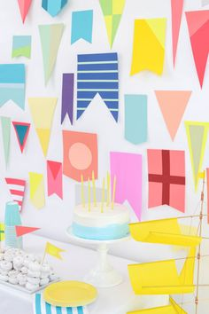 Nautical Paper Flags DIY | Oh Happy Day!