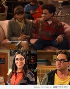 "Leonard and Amy were dating in ""Blossom"" TV Show - Fun fact about Leonard Hofstadter and Amy Farrah Fowler from The Big Bang Theory -- they were dating years back in another TV Show called ""Blossom."" Johnny Galecki and Mayim Bialik."