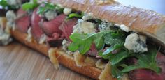 """Someday, instead of peas and carrots, we'll """"goes together like steak and blue cheese"""". At least, anyone who has tried these blue cheese and steak sandwiches will"""