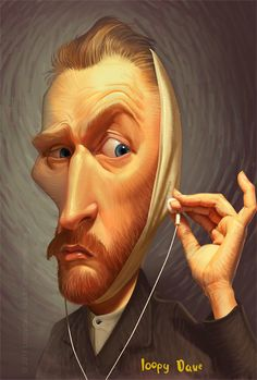caricature of Van Gogh by loopy dave